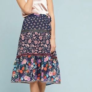 ✨HOST PICK✨Anthropologie Floral Melody Skirt